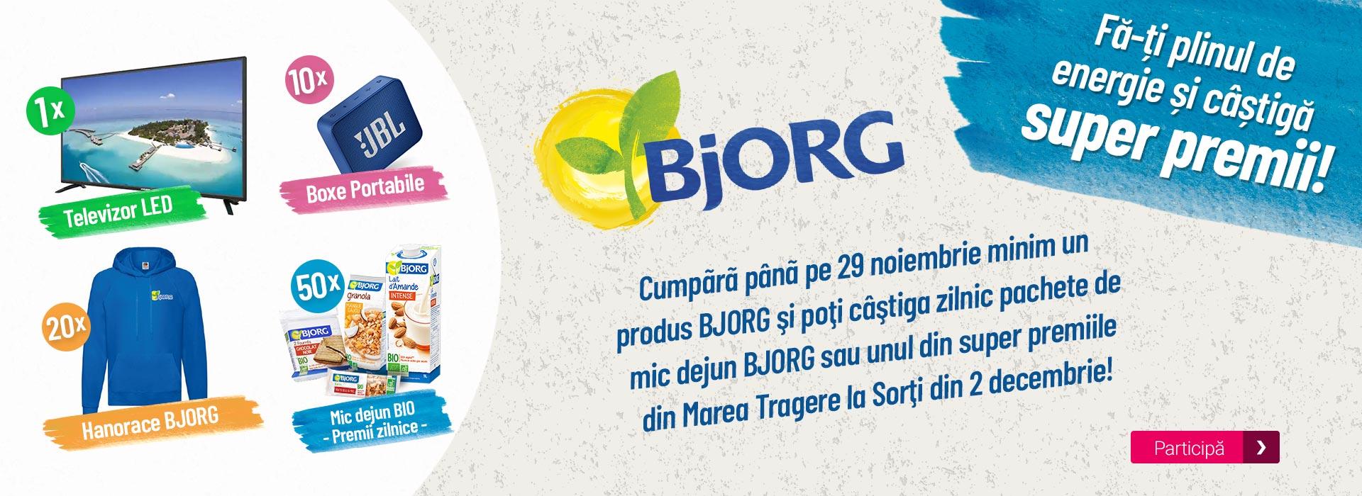 """Concurs """"Bjorg - Fă-ți plinul de energie și câștigă super premii!"""""""